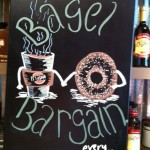 Bagel Bargain Chalk Art - It's A Grind Gilbert AZ